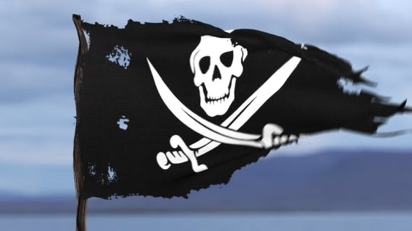 Thumbnail for Animation of a Pirate Flag
