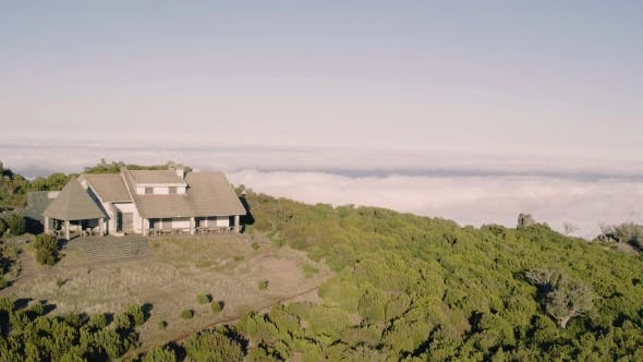 Thumbnail for Aerial View of the Abandoned House on Top Mountain