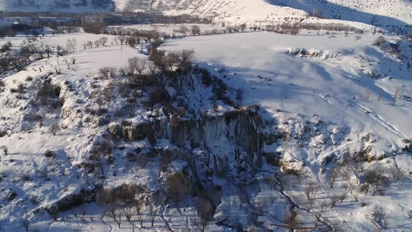 Cover Image for Aerial Ice Waterfall