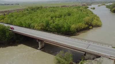 Bridge and Traffic Aerial