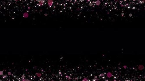 Cadre en particules d'amour