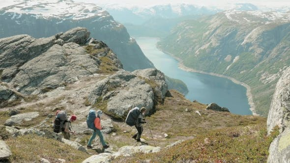Thumbnail for Backpackers Go To the Trolltunga in Norway