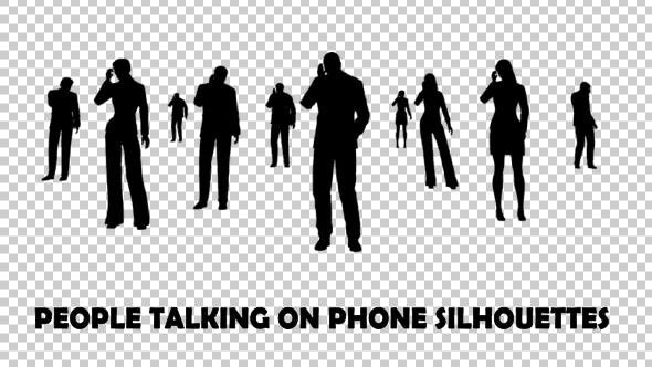 Thumbnail for People Talking On Phone Silhouettes