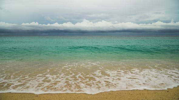 Thumbnail for Beautiful Beach on Tropical Island in Stormy Weather
