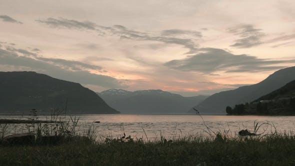 Thumbnail for Sunset Over the Norwegian Fjord