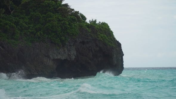 Thumbnail for Coast Sea in Stormy Weather. Boracay Island Philippines.