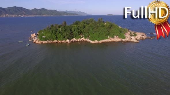 Thumbnail for Aero View on a Small Island in the South China