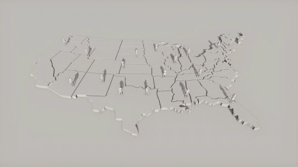 Cover Image for USA Map and People Calling on the Cell Phones