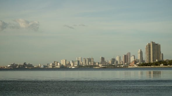 Thumbnail for City with Skyscrapers and Buildings. Philippines, Manila, Makati.