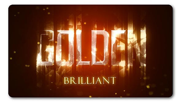 Thumbnail for Golden Brilliant Logo Reveal