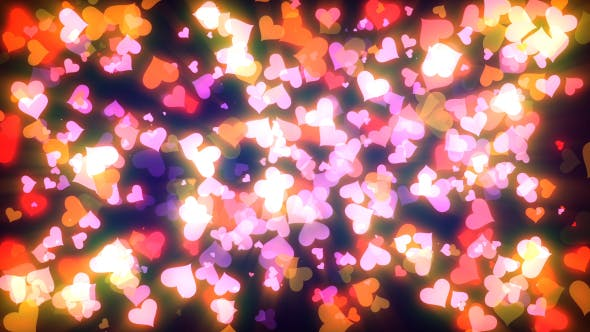Thumbnail for Glowing Hearts Particles Pack