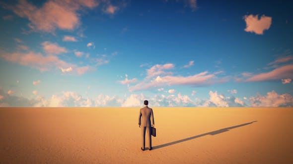 Thumbnail for Businessman in Desert