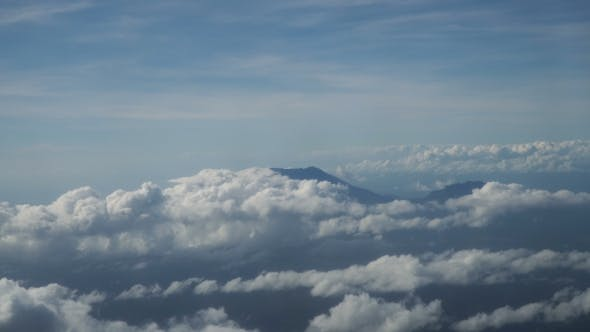 Thumbnail for View From an Airplane Window on the Mountains.