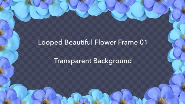 Thumbnail for Looped Beautiful Flower Frame 01