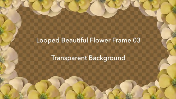 Thumbnail for Looped Beautiful Flower Frame 03