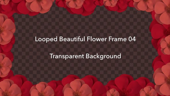 Thumbnail for Looped Beautiful Flower Frame 04