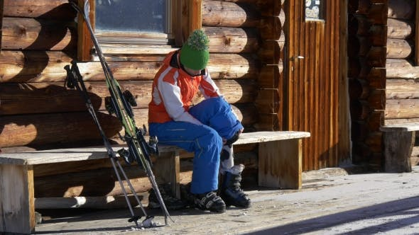 Thumbnail for Young Woman Ready for Skiing