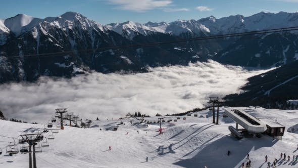 Thumbnail for Chair Lifts and Fog Down in the Valley