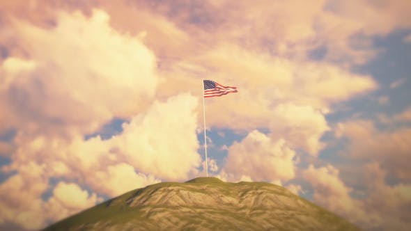 Thumbnail for US Flag on Hill