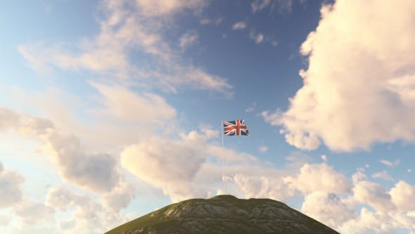 Thumbnail for United Kingdom Flag on a Hill