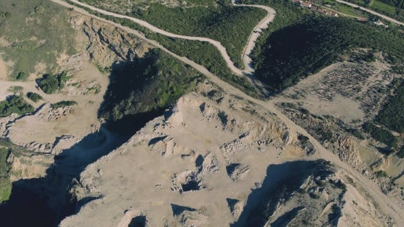 Thumbnail for Aerial View of Open Pit Sand Quarries