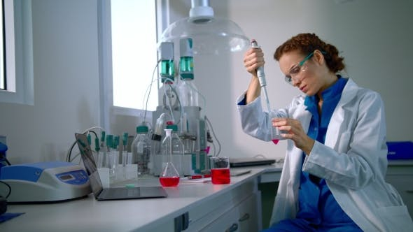 Thumbnail for Science Doctor Working in Lab. Medical Research. Female Doctor in Lab Medical