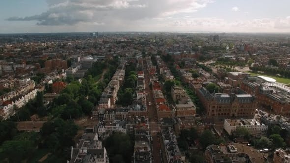 Thumbnail for Aerial Panoramic View of Amsterdam, Netherlands