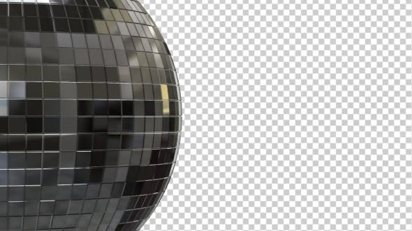 Thumbnail for Side View of a Silver Disco Ball