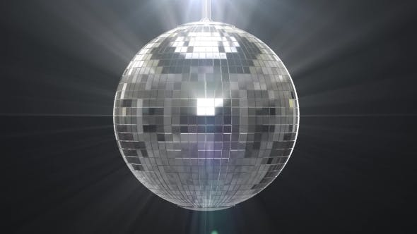 Thumbnail for Silver Shiny Disco Ball on Black Background