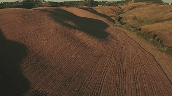Thumbnail for Aerial Footage of Agricultural Landscape on Sunny Day