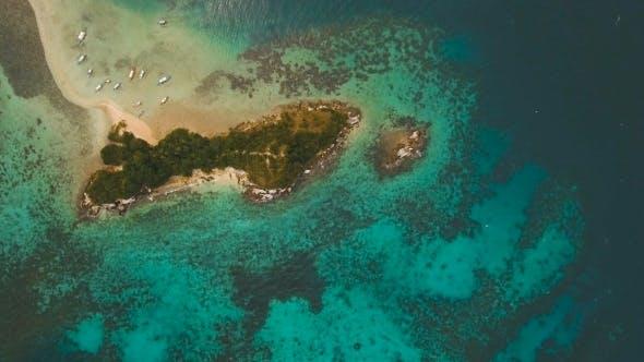 Thumbnail for Beautiful Tropical Beach, Aerial View. Tropical Island.