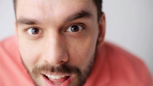 Thumbnail for Happy Smiling Man with Beard Having Fun at Camera 35