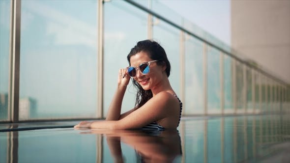 Thumbnail for Beautiful Luxury Girl in Sunglasses
