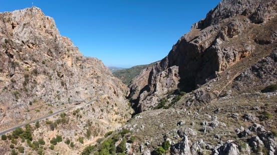 Thumbnail for Deepg Gorge in Mountains at Crete