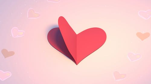 3D Heart Shape Paper Crafts Looped