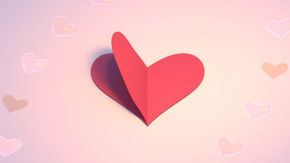 Thumbnail for 3D Heart Shape Paper Crafts Looped
