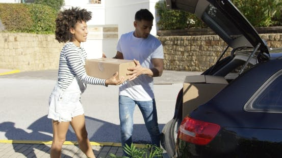 Thumbnail for Young African American Couple Moving Home