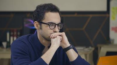 Portrait of Thinking Man