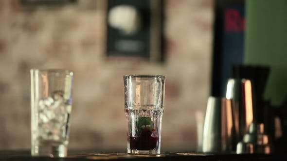 Thumbnail for Mint Leaves Are Added To a Glass To the Berries.