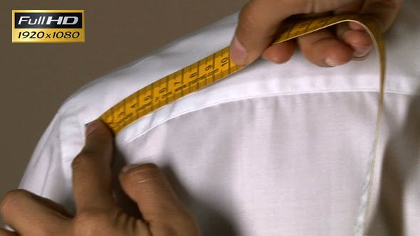 Thumbnail for Tailor Width of Shoulders Body Measuring