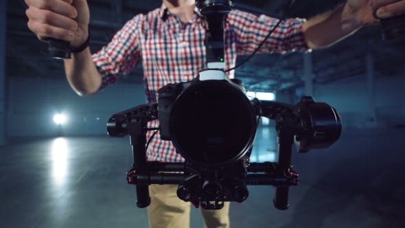 Cover Image for Camera Installed on the Electronic Video Stabilizer