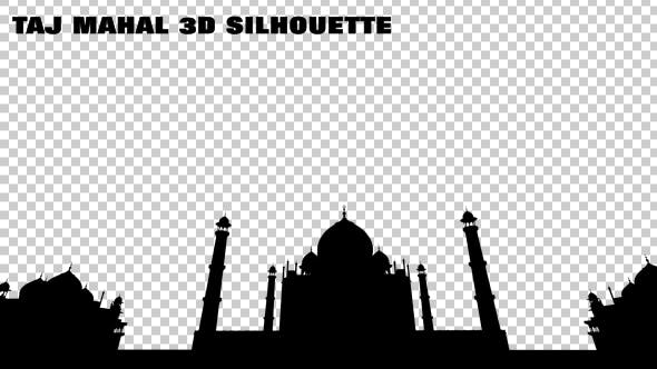 Thumbnail for Taj Mahal 3D Silhouette
