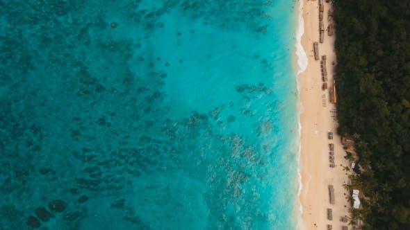 Thumbnail for Aerial View Beautiful Beach on Tropical Island. Boracay Island Philippines.