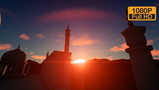 Sunset Sky and Taj Mahal