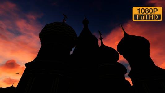 Thumbnail for Kremlin Church Time-lapse Sunset Sky