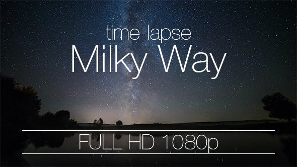 Thumbnail for Night Sky Milky Way Galaxy Over River