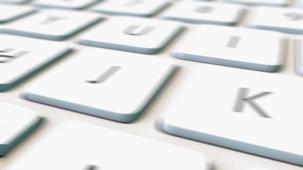 Thumbnail for White Computer Keyboard and Print Key