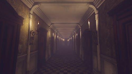 Mystery Old Hotel Corridor
