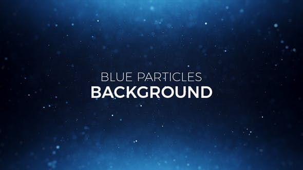 Thumbnail for Blue Particles Background