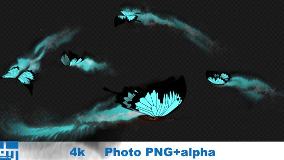 Cayn Butterfly Dynamic Flying Particle Tail 01